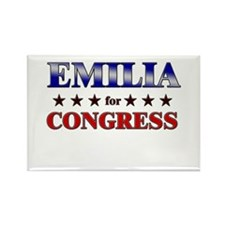 EMILIA for congress Rectangle Magnet
