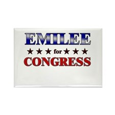 EMILEE for congress Rectangle Magnet