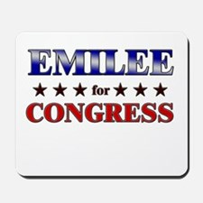 EMILEE for congress Mousepad