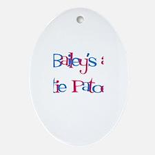 Bailey's a Cutie Patootie Oval Ornament