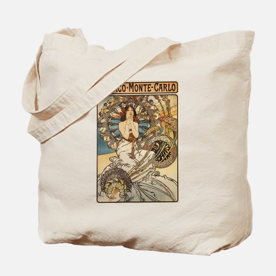 Woman Dressed in Feathers - Art Nouveau Tote Bag