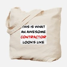 awesome contractor Tote Bag