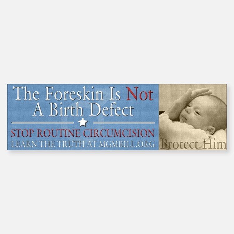 Bumper Sticker - Not A Birth Defect