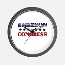 EMERSON for congress Wall Clock