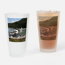 Float plane, Trail Lake, Alaska 2 Drinking Glass