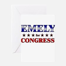 EMELY for congress Greeting Card