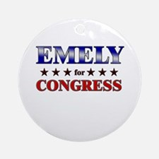 EMELY for congress Ornament (Round)