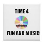 SPRING BREAK RAINBOW CD Tile Coaster