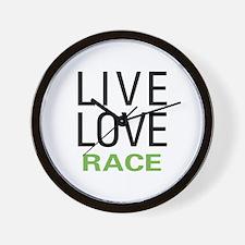 Live Love Race Wall Clock