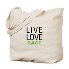 Live Love Race Tote Bag