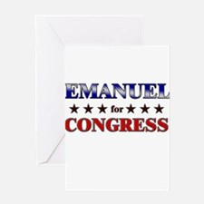 EMANUEL for congress Greeting Card