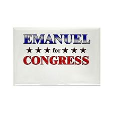 EMANUEL for congress Rectangle Magnet