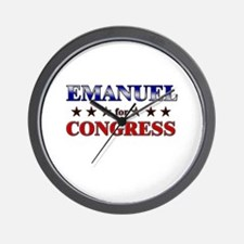 EMANUEL for congress Wall Clock