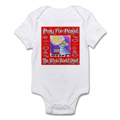 Pray For Peace The Whole Worl Infant Bodysuit