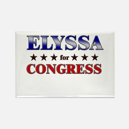 ELYSSA for congress Rectangle Magnet