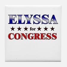 ELYSSA for congress Tile Coaster