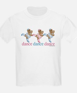 3 Teddy Bear Dancers Kids T-Shirt