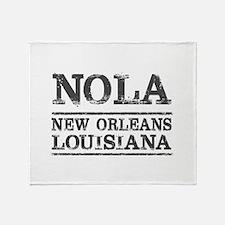 NOLA New Orleans Vintage Throw Blanket