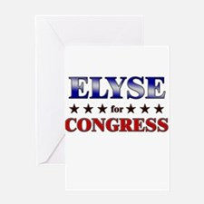 ELYSE for congress Greeting Card