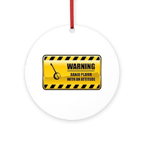 Warning Banjo Player Ornament (Round)