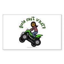 Dark Four-Wheeler Rectangle Decal