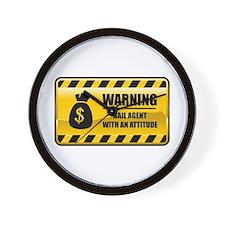 Warning Bail Agent Wall Clock