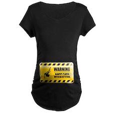 Warning Bagpipe Player T-Shirt