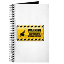 Warning Bagpipe Player Journal
