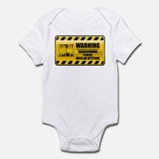 Warning Backgammon Player Infant Bodysuit