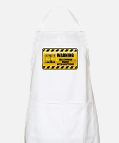 Warning Backgammon Player BBQ Apron