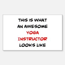 awesome yoga nstructor Sticker (Rectangle)