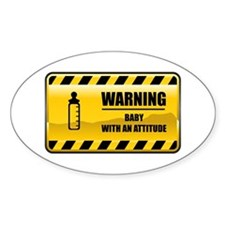 Warning Baby Oval Decal