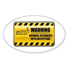 Warning Avionics Person Oval Decal