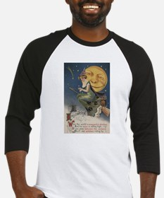 Halloween Greeting - Witch in Flight Baseball Jers