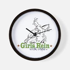Cute Horse girls Wall Clock