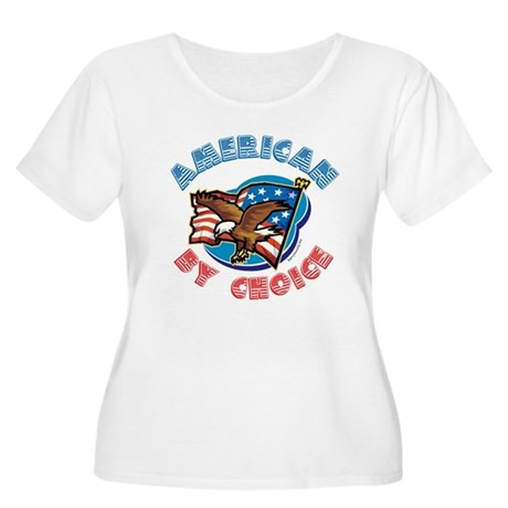 American By Choice Women's Plus Size Scoop Neck T-