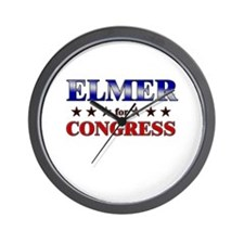ELMER for congress Wall Clock