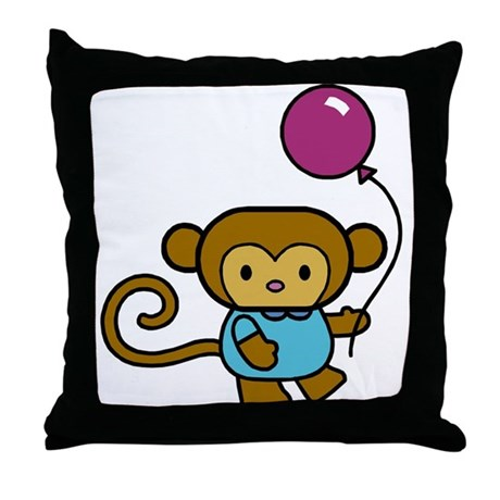 Bobo Monkey Throw Pillow