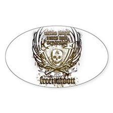 Masonic Couture Oval Decal
