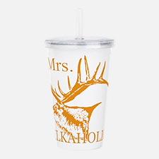 Mrs Elkaholic 2 Acrylic Double-wall Tumbler