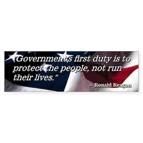 Reaganism 6 Bumper Sticker