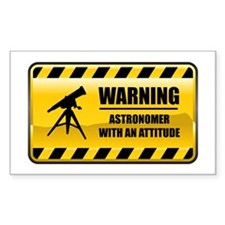 Warning Astronomer Rectangle Decal