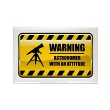 Warning Astronomer Rectangle Magnet