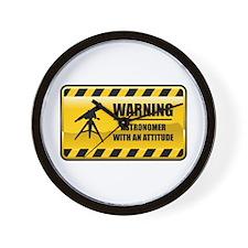 Warning Astronomer Wall Clock