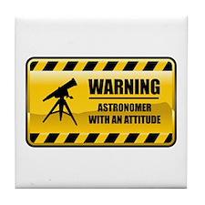 Warning Astronomer Tile Coaster