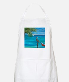 Beach View with pelican BBQ Apron