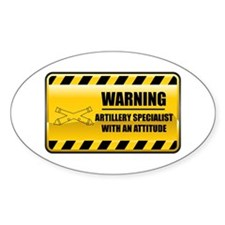 Warning Artillery Specialist Oval Decal