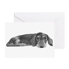 Wire Haired Dachshund Greeting Card