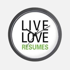 Live Love Resumes Wall Clock