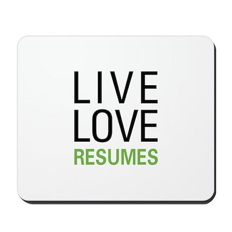 live resumes mousepad by 100percentgear